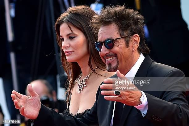 Lucila Sola and Al Pacini attend 'Manglehorn' Premiere during the 71st Venice Film Festival at Sala Grande on August 30 2014 in Venice Italy