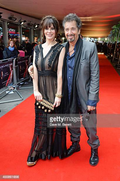 Lucila Sola and Al Pacino attend a VIP screening of 'Salome and Wilde Salome' at the BFI Southbank on September 21 2014 in London England