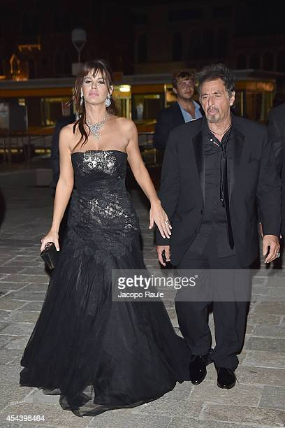 Lucila Sola and Al Pacino attends 'The Humbling' premiere after party during the 71st Annual Venice Film Festival on August 30 2014 in Venice Italy
