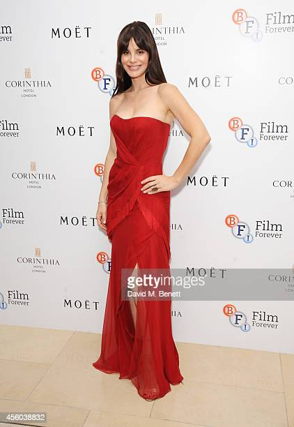 Lucila Sola arrives at the Al Pacino BFI Fellowship Dinner supported by Moet Chandon at the Corinthia Hotel London on September 24 2014 in London...