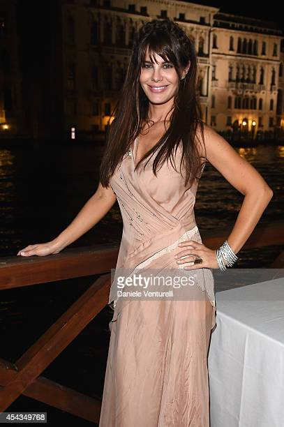 Lucila Sola attends the Exclusive Dinner hosted by Andrea Iervolino and Monika Bacardi during the 71st Venice Film Festival on August 29 2014 in...