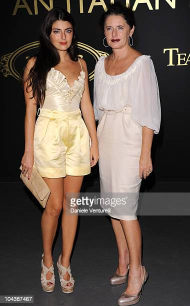 Lucilla Bonaccorsi and Luisa Beccaria attend An Italian Dream: Tod's and Teatro alla Scala Cocktail Party during Milan Fashion Week Womenswear...