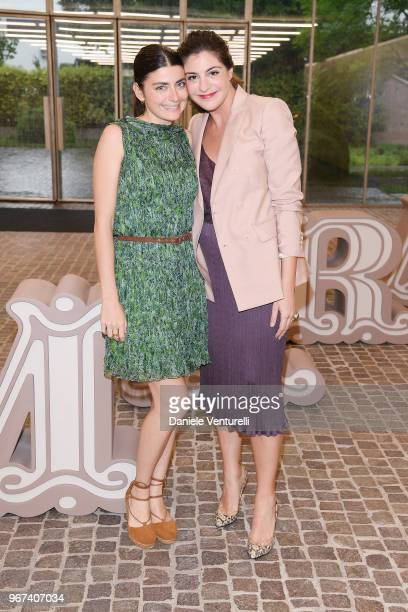 Lucilla Bonaccorsi and Maria Giulia Prezioso Maramotti wearing Max Mara attend Max Mara Resort Show 2019 at Collezione Maramotti on June 4 2018 in...