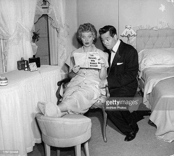 Lucille Ball and Desi Arnaz in pilot episode of television series 'I Love Lucy', 1951.