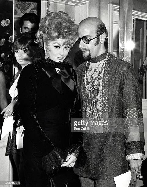 Lucille Ball and Friend during Lucille Ball Sighting at the Bevely Hills Hotel May 26 1968 at Bevely Hills Hotel in Beverly Hills California United...