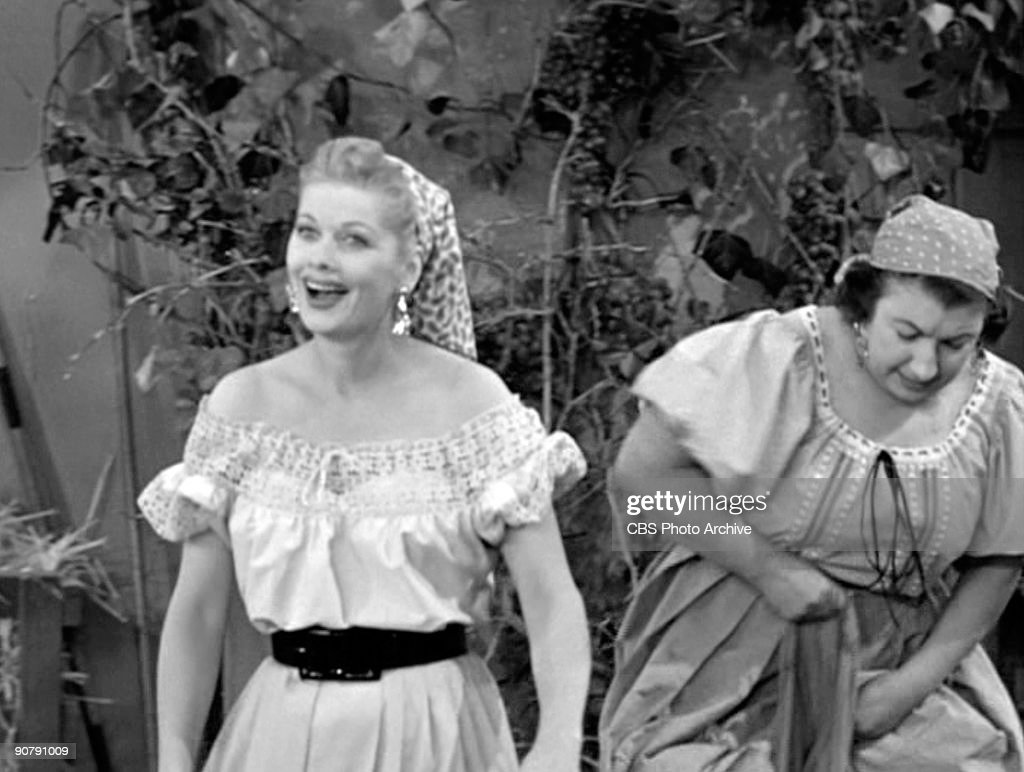 Lucy Lucille Ball As Lucy Ricardo And Teresa Tirelli As Wine