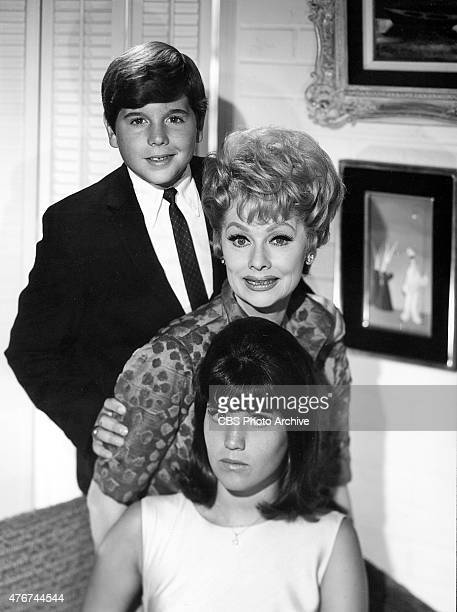 Lucille Ball center with her two children Lucie Arnaz and Desi Arnaz Jr Image dated October 27 1965
