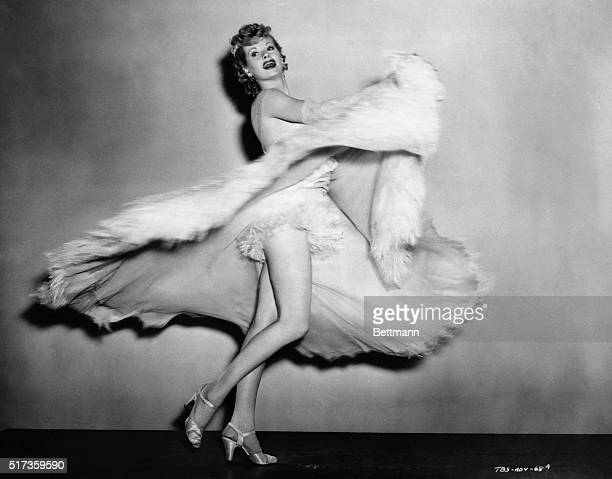 Lucille Ball dancing in costume for the 1942 motion picture The Big Street