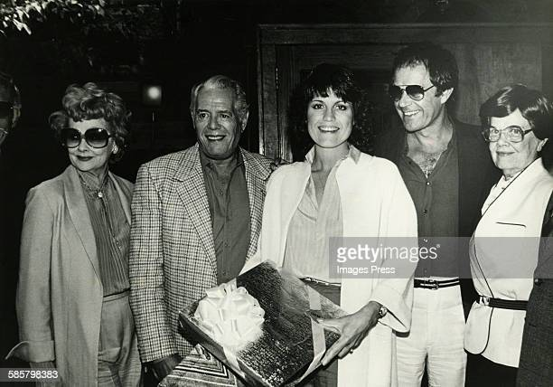 Lucille Ball family sighting circa 1980 Pictured are Lucille Ball Desi Arnaz Lucie Arnaz Laurence Luckinbill and unidentified woman