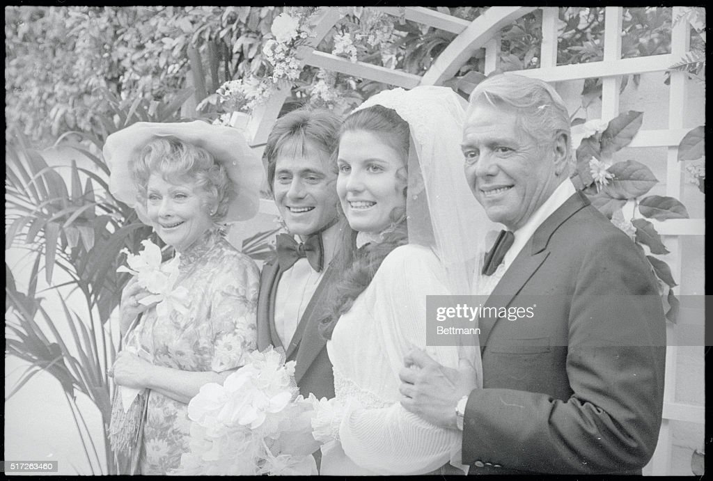 Lucille Ball Morton And Desi Arnaz Stand Beside Their Daughter Lucie Desiree Her Husband