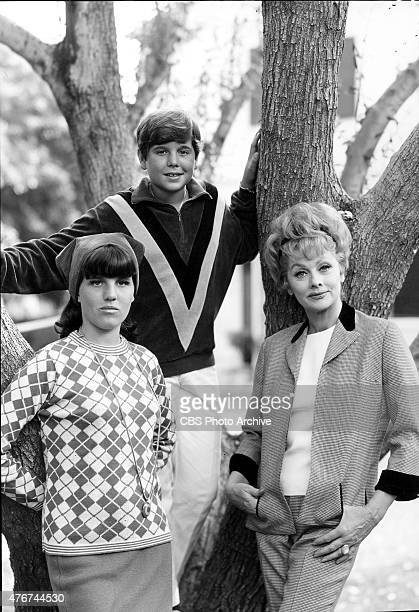 Lucille Ball right with her two children Lucie Arnaz and Desi Arnaz Jr Image dated October 27 1965