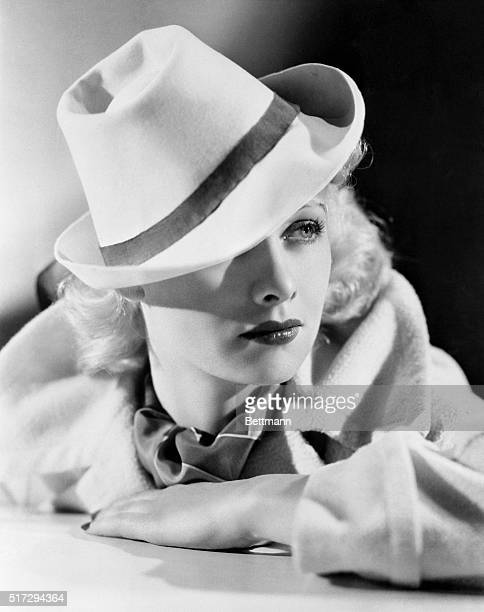 Lucille Ball Warner Bros player wears the gondolier hat newest Hollywood fashion inspired by a Hollywood production Top Hat in which reproductions of...