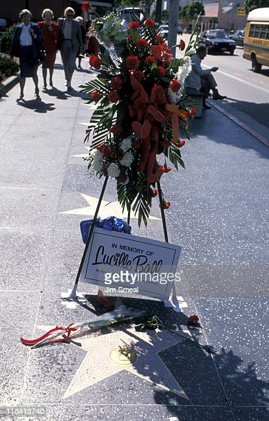 Lucille Ball's Star during Event at the Walk of Fame at Walk of Fame in Hollywood California United States