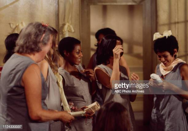 Lucille Benson Katherine Cannon Neile Adams BarBara Luna extras appearing in the Walt Disney Television via Getty Images tv movie 'Women in Chains'