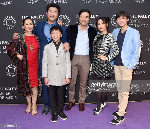 Lucille Soong Hudson Yang Ian Chen Randall Park Constance Wu and Forrest Wheeler attend The Paley Center Presents An Evening With 'Fresh Off The...