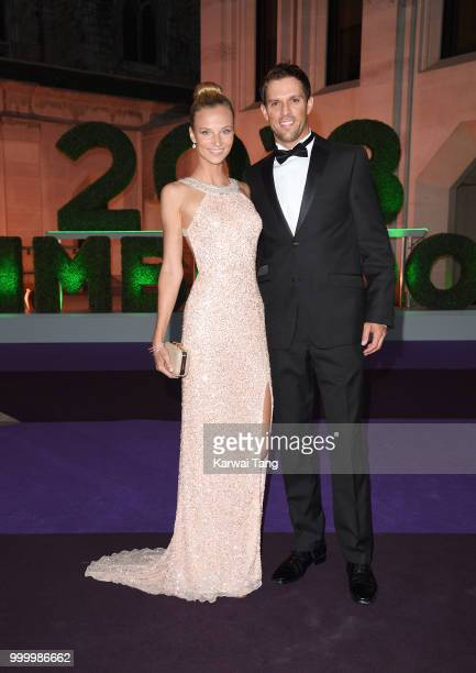Lucille Williams and Mike Bryan attend the Wimbledon Champions Dinner at The Guildhall on July 15, 2018 in London, England.