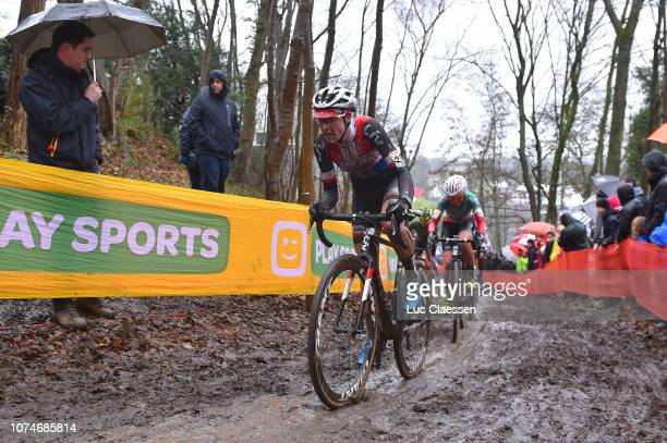 Lucinda Brand of The Netherlands and Team Sunweb / Mud / during the 10th Namur World Cup, Women Elite on December 23, 2018 in Namur, Belgium.