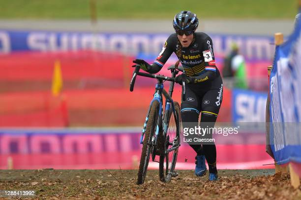 Lucinda Brand of The Netherlands and Team Telenet Baloise Lions / during the 24th Tabor World Cup 2020 - Women Elite / #CXWorldCup / @UCI_CX /...