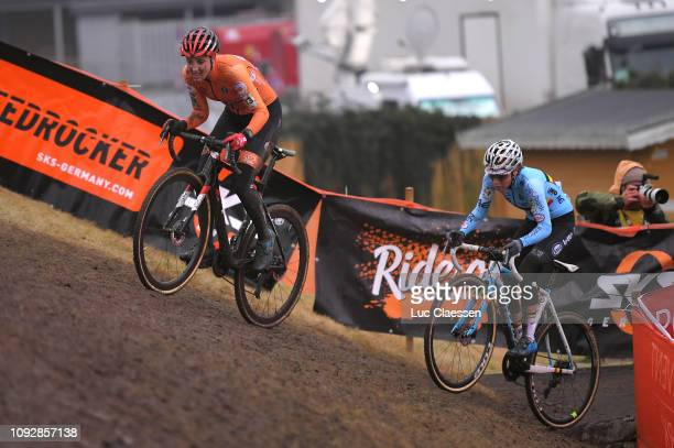 Lucinda Brand of The Netherlands and Team The Netherlands / Sanne Cant of Belgium and Team Belgium / during the 70th Cyclo-cross World Championships...
