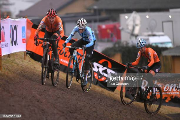 Lucinda Brand of The Netherlands and Team The Netherlands / Sanne Cant of Belgium and Team Belgium / Denise Betsema of The Netherlands and Team The...