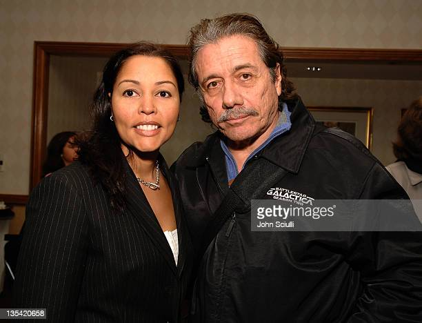 """Lucinda Defir and Edward James Olmos during """"Walkout"""" Screening Presented by the National Association of Latino Independent Producers Conference 7,..."""
