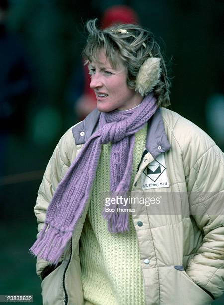 Lucinda Green of Great Britain at the Brigstock Horse Trials 1st April 1984