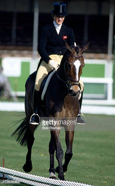 Lucinda Green of Great Britain riding her horse Regal Realm the eventual winners during the dressage element of the Badminton Horse Trials circa...