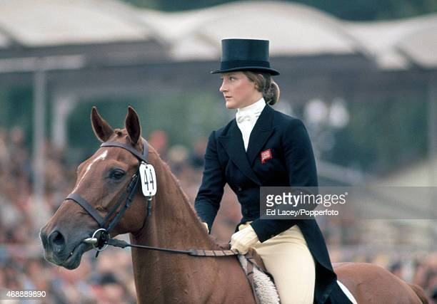 Lucinda PriorPalmer riding Be Fair during the Dressage section of the European ThreeDay Eventing Championship at Luhmuhlen circa September 1975...
