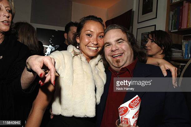 Lucinda Rhodes Flaherty and Harrison Funk during Henri Zimand and His Charity 'Anda's Spirit' Sponsor Michael Jackson Art Exhibition at Proud Gallery...