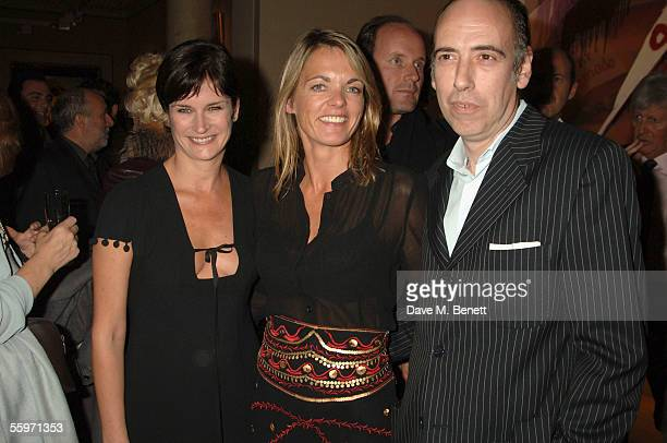Lucinda Strummer Mick Jones and his wife attend the private view for Julian Schnabel's Pintura Del Figlo XXI his first show in 6 years at 38 Dover...
