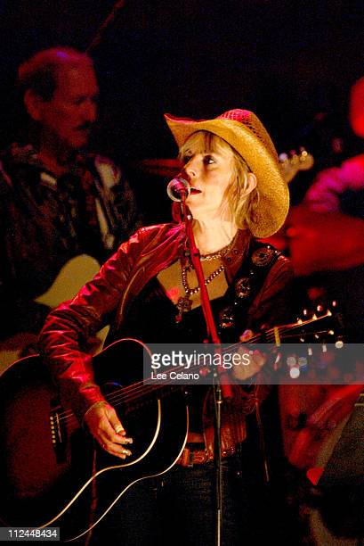 Lucinda Williams during Return To Sin City A Tribute to Gram Parsons July 10 2004 at Universal Amphitheatre in Universal City California United States
