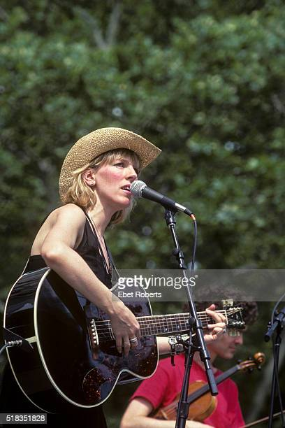 Lucinda Williams performing at Summerstage in Central Park in New York City on June 27 1992