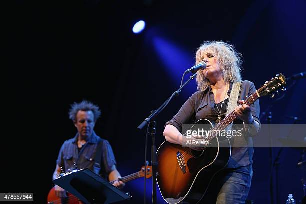 Lucinda Williams performs at Celebrate Brooklyn at the Prospect Park Bandshell on June 25 2015 in the Brooklyn borough of New York City