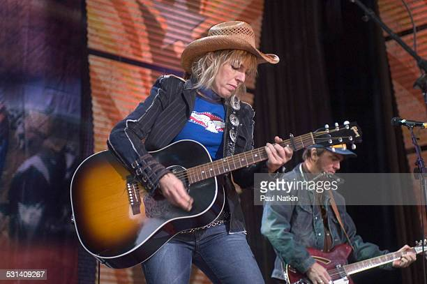 Lucinda Williams performs at Farm Aid at the White River Ampitheater Seattle Washington September 18 2004