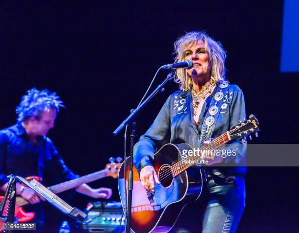 Lucinda Williams performs at The Barbican on July 27 2019 in London England