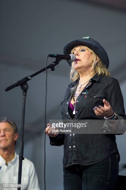 Lucinda Williams performs at the New Orleans Jazz Heritage Festival at the Fair Grounds Race Course in New Orleans Louisiana on April 28 2018