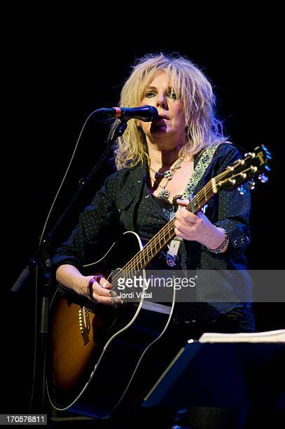 Lucinda Williams performs on stage at Barts during BCN Guitar Festival at on June 14 2013 in Barcelona Spain