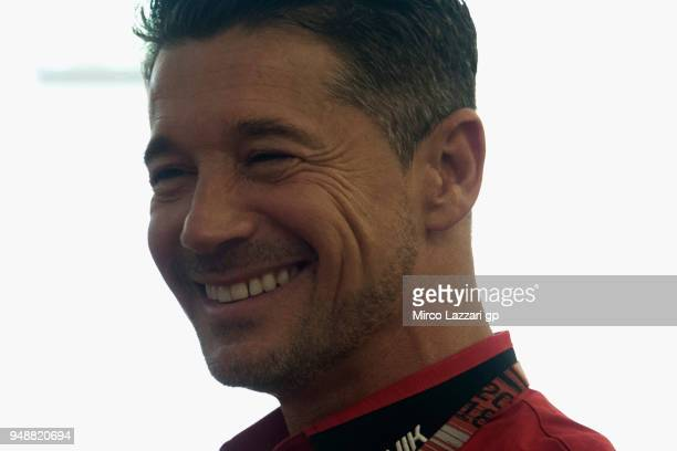 Lucio Cecchinello of Italy and LCR Honda MotoGP smiles during the press conference during the MotoGp Red Bull US Grand Prix of The Americas Previews...