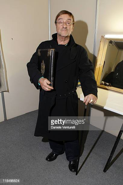 Lucio Dalla attends the 'Tosca amore disperato' at the Gran Teatro Theatre on December 11 2009 in Rome Italy