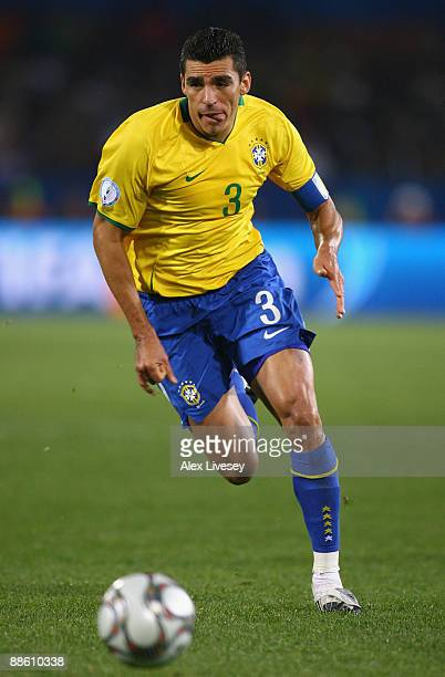 Lucio of Brazil during the FIFA Confederations Cup match between Italy and Brazil at the Loftus Versfeld Stadium on June 21, 2009 in Pretoria, South...