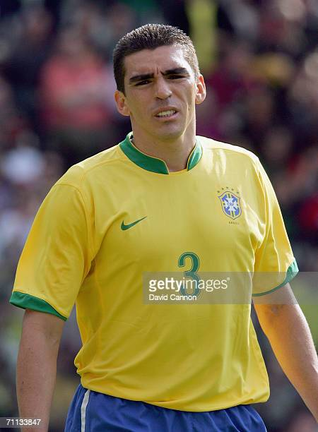 Lucio of Brazil during the international friendly match between Brazil and New Zealand at the Stadium de Geneva on June 4, 2006 in Geneva ,...