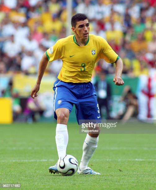 Lucio of Brazil in action during the FIFA World Cup Group F match between Brazil and Australia at the FIFA WMStadion in Munich on June 18 2006 Brazil...