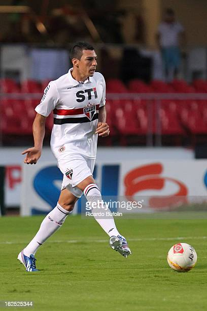Lucio of Sao Paulo fights for the ball during the match between Sao Paulo and Linense as part of Paulista Championship 2013 at Morumbi Stadium on...