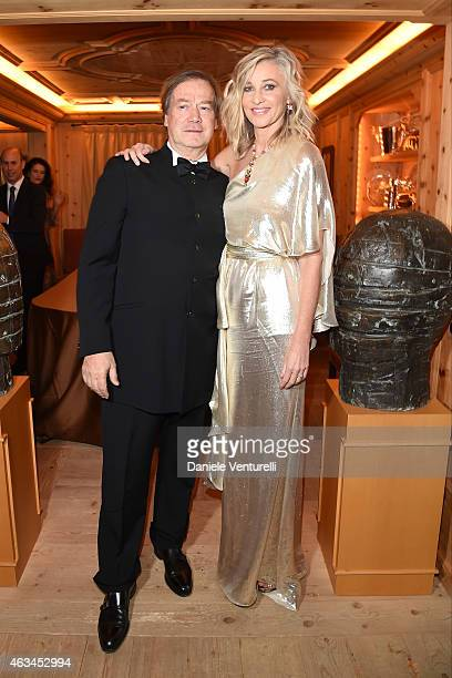 Lucio Velo and Ester Velo van Hulst attend Bulgari High Jewelry Event St Moritz on February 14 2015 in St Moritz Switzerland