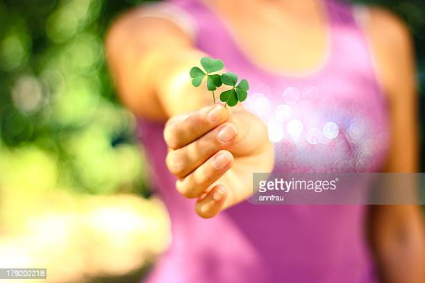 luck is believing you're lucky - annfrau stock photos and pictures