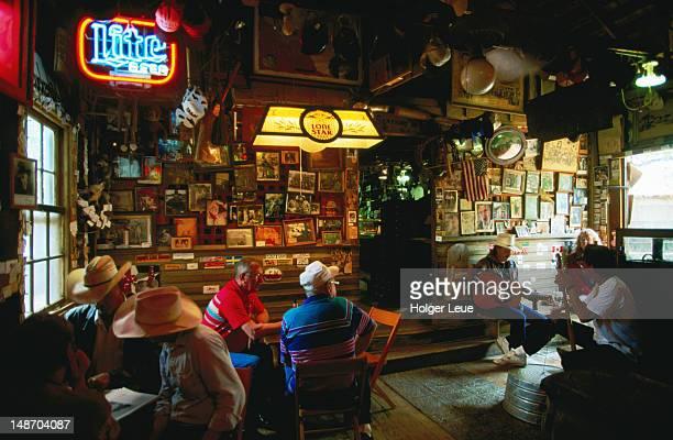 Luckenbach Beer Joint, interior.
