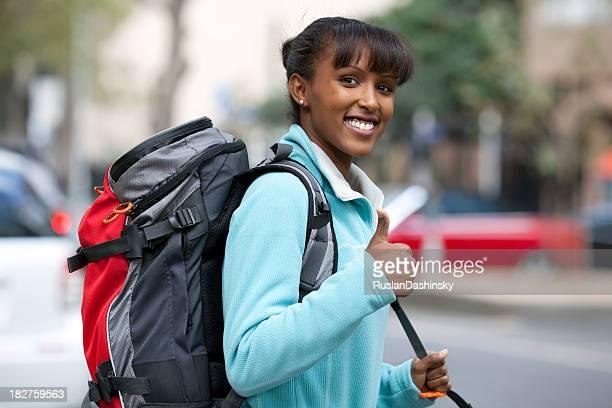Lucky backpacker