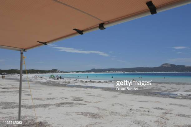 lucky bay in cape le grand western australia - rafael ben ari stock-fotos und bilder