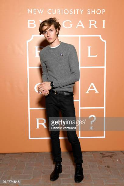 Lucky Blue Smith attends New Curiosity Shop on January 31 2018 in Rome Italy