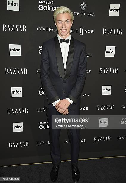 Lucky Blue Smith attends the 2015 Harper's BAZAAR ICONS Event at The Plaza Hotel on September 16 2015 in New York City